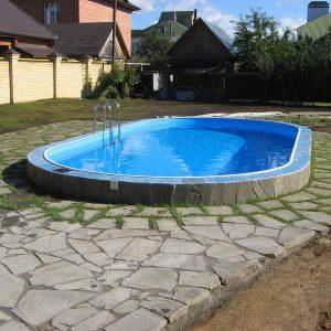 Стационарный бассейн для дачи